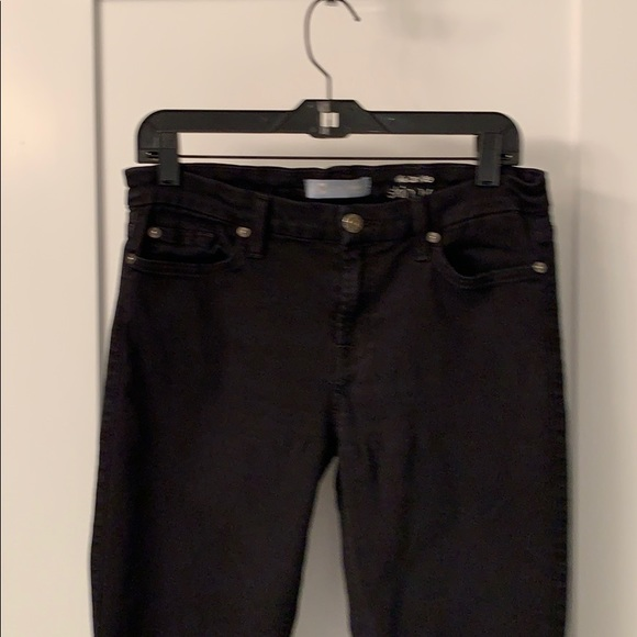 7 for all mankind the ankle skinny b(air) black